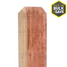 Top Choice 5 8 In X 10 In W X 5 Ft H Redwood Dog Ear Fence Picket In The Wood Fence Pickets Department At Lowes Com