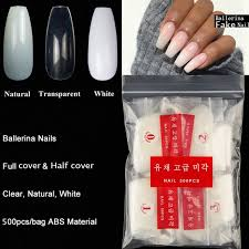clear acrylic nails coffin