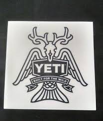 Authentic Yeti Decal Sticker Built For The Wild Navy White Fashion Home Garden Homedcor Deca Yeti Cooler Stickers Yeti Stickers Monogram Decal Stickers