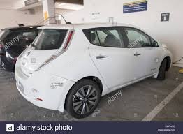 Nissan Leaf Plug In Electric Vehicle With California Clear Air Stock Photo Alamy