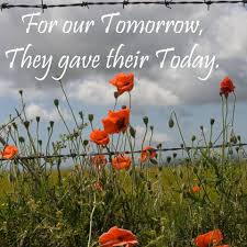 Image result for for our tomorrow they gave""