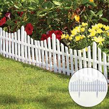 Flexible White Picket Fence Garden Border 12pcs Walmart Com Walmart Com