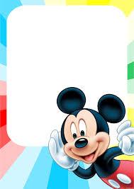 Marcos Para Invitaciones De Mickey Mouse 2 Decoracion De Fiestas