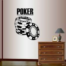 Vinyl Decal Poker Sign Chips Cards Suits Casino Gambling Wall Art Sticker 850 For Sale Online Ebay