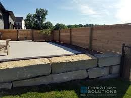Privacy Wall With Dog Window Deck And Drive Solutions Iowa Deck Builder