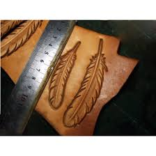 leather feather mold mould hot stamp