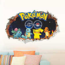 3d Pokemon Wall Decals Limited Edition The Decal House
