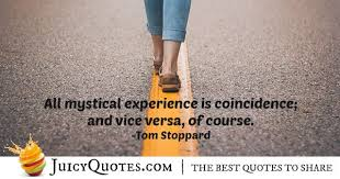 experiences and coincidence quote picture