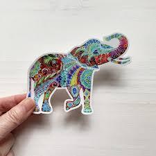 Elephant Vinyl Sticker Elephant Decal Laptop Decal Phone Etsy In 2020 Elephant Decal Elephant Stickers Handmade Shop