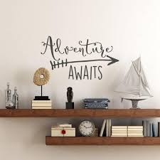 Travel Theme Adventure Awaits Vinyl Wall Decal Home Wall Sticker Travel Themed Room Travel Themed Bedroom Wall Decals For Bedroom