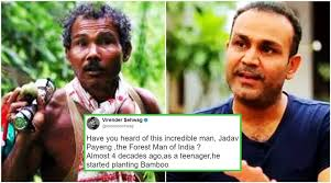 Virender Sehwag tweets tale of the 'Forest Man of India'; Twitterati shower  compliments   Trending News,The Indian Express