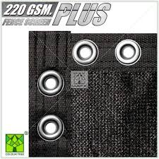 Colourtree 8 Ft X 50 Ft Heavy Duty Plus Black Privacy Fence Screen Mesh Fabric With Extra Reinforced Grommets For Garden Fence Tap0850p 2 The Home Depot