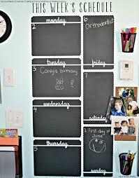 Vertical Week Schedule Chalkboard Vinyl Wall Decal Chalkboard Vinyl Vinyl Wall Decals Chalkboard Wall Calendars