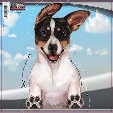 Rat Terrier Dogs On The Move Window Decal Redd Waggin Pet Treat Truck