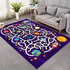 Space Play Rug Rocket Carpet Play Mat Living Room Kids Bedroom Nursery School Ebay