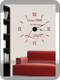 Clock Wall Decal Large Wall Clock Kit With Working Hands And Etsy