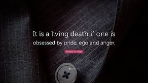 """sathya sai baba quote """"it is a living death if one is obsessed by"""