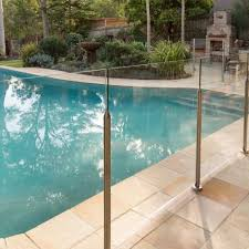 Glass Pool Fencing Systems Everton At Bunnings Glass Pool Fencing Glass Pool Pool Fence