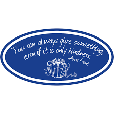 Give Kindness Quote Oval Vinyl Decals Anne Frank