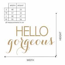Hello Gorgeous Mirror Wall Decal Hello Gorgeous Mirror Wall Sticker 925q Wall Stickers Aliexpress