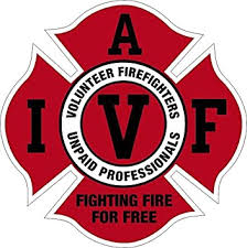 Amazon Com Evan Decals Iavff Fighting Fire For Free Volunteer Window Decal Vinyl Sticker 4 Automotive