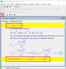 4 free mathematical equation solver