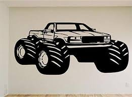 Monster Truck Race Car Auto Wall Decal Stickers Murals Boys Room Man C