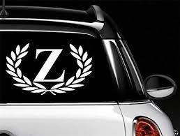 Amazon Com Car Decal Letter Z Large Size Decorative Monogram 9 X 10 Bumper Sticker For Windows Trucks Cars Laptops Glasses Mugs Etc Home Kitchen