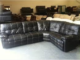 scs max black leather manual recliner