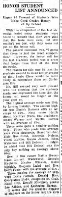 Myrtle Kiddo Barnes - honor roll Perry (OK) Journal 21 Dec 1928 p1 -  Newspapers.com