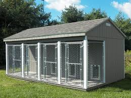 Four Unit Dog Kennel By Waterloo Structures Dog Kennel Dog Kennel Designs Dog Boarding Kennels