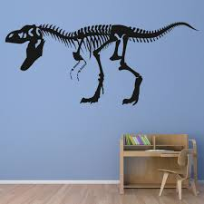 T Rex Skeleton Wall Sticker Fossil Dinosaur Wall Decal Kids Bedroom Home Decor Ebay
