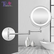 wall mounted bathroom mirror led makeup