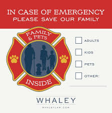 Free Fire Rescue Family Pets Inside Window Decal