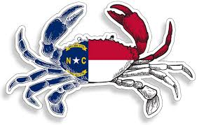 Amazon Com North Carolina State Flag Crab Sticker Fl Fishing Decal Vinyl Die Cut Car Truck Boat Bumper Window Graphic Everything Else