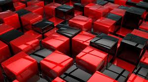 مكعبات خلفية أحمر أسود منطقة Hd Widescreen High Definition