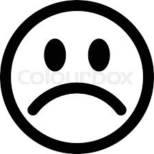 sad face emoji stock vector colourbox