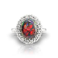 australian black opal rings jewelry