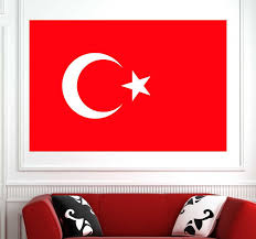 Turkey Flag Wall Sticker Tenstickers