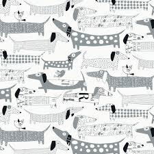 wiener dogs eclectic wallpaper by