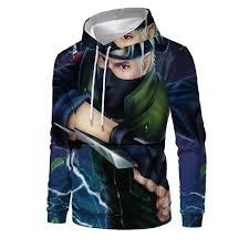 Áo Hoodie In Họa Tiết Naruto 3d Cá Tính Dành Cho Nam, Giá tháng 11/2020