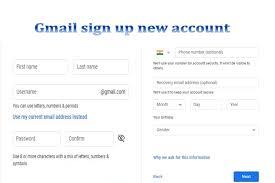 Gmail signup new account at google ...
