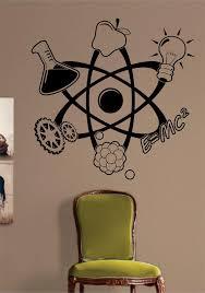 Science Atom Design Decal Sticker Wall Vinyl Art Home Room Decor Teach Boop Decals