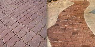 pavers or stamped concrete for patios