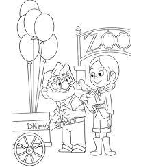 Russell En Ellie In Een Dierentuin Kleurplaat Gratis Kleurplaten