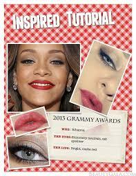rihanna s 2016 grammy awards makeup