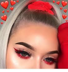red love makeup inspiration