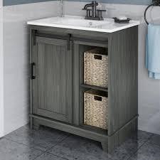barn door bath vanity