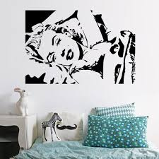 Marilyn Monroes Sleeping Pose Wall Art Mural Decor Sexy Monroe Bedroom Wall Decal Poster Diy Home Art Applique Sticker Wall Murals And Decals Wall Murals And Stickers From Magicforwall 2 82 Dhgate Com