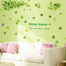 Home Wall Decoration Green Leaves Wall Sticker Removable Maple Leaf Wall Stickers Decals Buy At A Low Prices On Joom E Commerce Platform